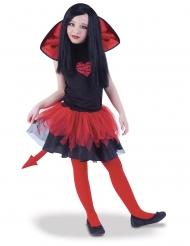 Disfraz tutú diablesa bicolor niña