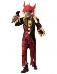 Disfraz de lujo payaso loco con máscara hombre