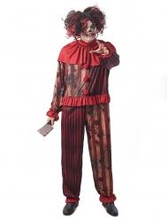 Disfraz payaso del terror rojo hombre