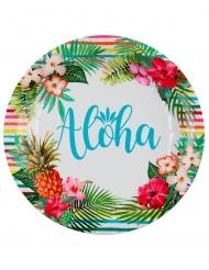 10 Platos cartón Aloha 22,5 cn