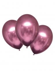 6 Globos de látex rosa satinado 28 cm