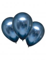 6 Globos de látex azul marino satinado 28 cm
