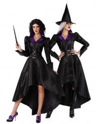 Disfraz con sombrero bruja años 20 mujer