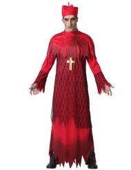Disfraz cardenal zombie rojo adulto