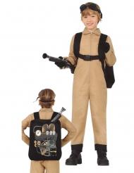 Disfraz cazador de fantasmas con mochila niño