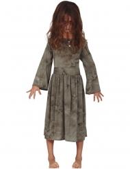 Disfraz fantasma gris niña