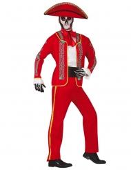 Disfraz mariachi rojo Día de los muertos hombre