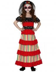 Disfraz mexicana Día de muertos niña