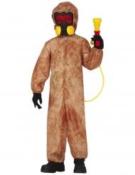 Disfraz zombie radioactivo niño