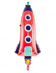 Globo de aluminio cohete 44 x 115 cm