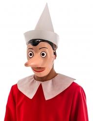Máscara de plástico Pinocho™ con nariz desprendible adulto