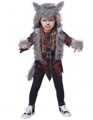 Disfraz de hombre lobo gris niña