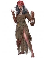 Disfraz bruja vudú del lago mujer