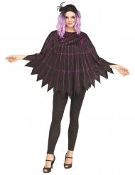 Poncho telaraña violeta mujer