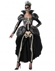 Disfraz reina esqueleto mujer