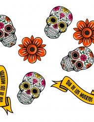 24 Confetis de madera Calaveras Día de los muertos