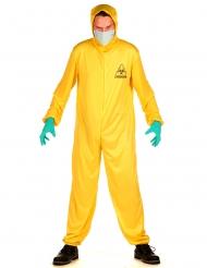 Disfraz buzo amarillo zona contaminada