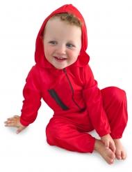 Disfraz atracador rojo bebé