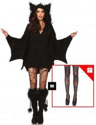 Disfraz murciélago mujer con pantys de regalo