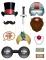 Kit photocall tema circo vintage 11 accesorios