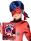Peluca y máscara Ladybug™ niño en caja