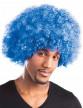 Perruque afro disco bleue volume adulte-1