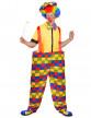 Déguisement clown à carreaux colorés homme