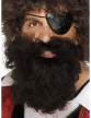 Barbe pirate marron homme