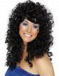 Perruque noire frisée femme