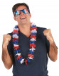 Collier hawaï tricolore supporter France adulte-1
