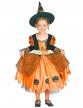 Déguisement sorcière orange fille Halloween-3