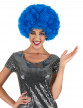 Perruque afro bleue confort adulte
