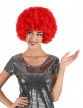 Perruque afro rouge confort adulte