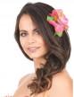 Barrette fleur rose Hawaï-1