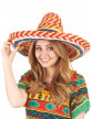 Sombrero mexicain multicolore adulte-1