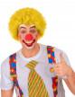 Perruque afro/clown jaune adulte-1