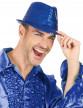 Chapeau borsalino à sequins bleu foncé adulte-2