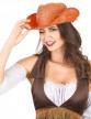 Chapeau de paille Western orange adulte-1