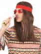Perruque pirate ou hippie avec bandana adulte-1
