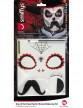 Kit maquillage squelette mexicain adulte Dia de los muertos-4
