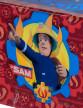 Nappe en plastique Sam le Pompier ™-1