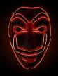 Masque voleur LED rouge adulte
