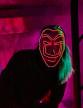 Masque voleur LED rouge adulte-2