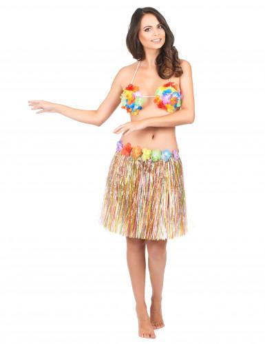 Falda hawaiana de varios colores para mujer