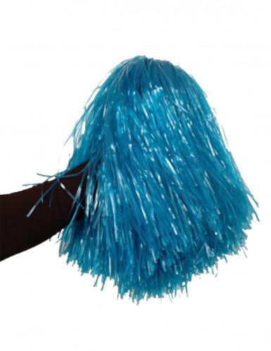 Pompón azul metálico