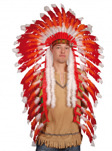 Corona de gran jefe indio para hombre