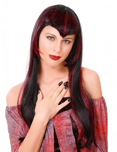 Peluca roja de vampiresa para mujer