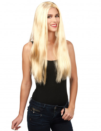 Peluca rubia para mujer ideal para Halloween
