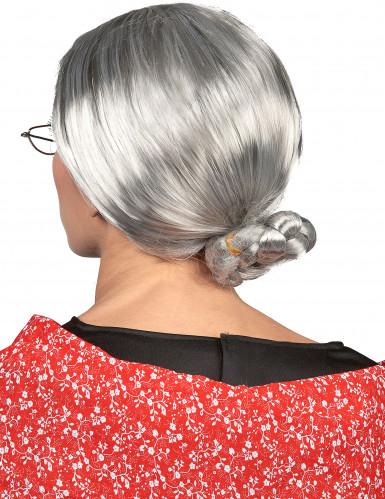 Peluca de abuela para mujer-1