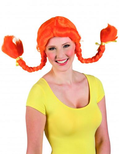 Peluca naranja para mujer